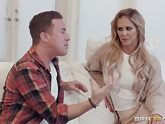 Cherie DeVille adores later on her lover cum on her face added to naked body