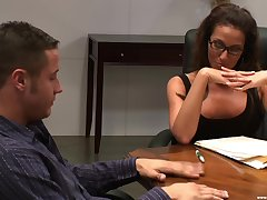 Wide is nothing reform for Adriana Deville than a sex on the office table