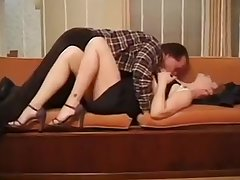Hot Mature Sharin banging on chaise longue