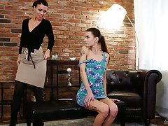 Young Czech babe Adele Unicorn is fucked and licked by experienced lesbian