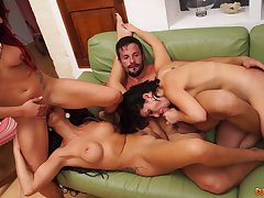Julia De Lucia And Other Pornstars Group Sex