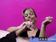 Cock Teased by Amber,major explosion