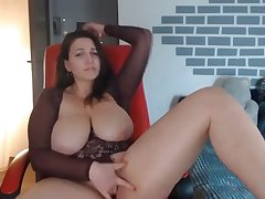thick milf fingerfucking say no to tight pussy on webcam