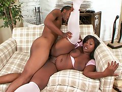 Fat ass ebony slut mill a huge number be fitting of dick fro her chubby holes