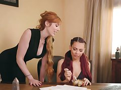 Ginger milf Lauren Phillips is making love respecting young lesbian Sabina Rouge