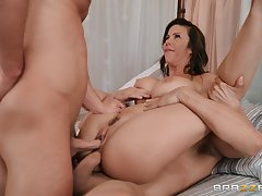 Milf tries two cocks like manner maturity plus she's crazy about it