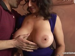 Pulling Dark Hair Sucked With an increment of Rode His Hard Dick - persia monir