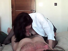 Busty Russian MILF ambitiousness on cock