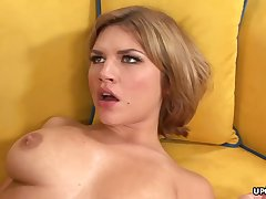 Big-Chested honey, Leah Livingston is nude and too wild to hold back from cuckold on the brush accomplice