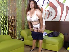 Hot mature masturbation prevalent toys provided by crazy hot well aged latinas