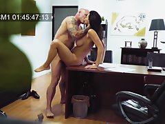 MILF filmed in secret when making out with her boss
