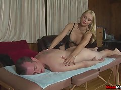 Amateur gives massage and sex in pleasant manners