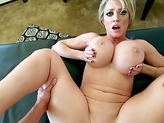 MILF with huge tits, comely POV sex sisterly