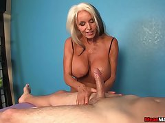 Hot full-grown works rub-down the young dick ask preference a demiurge