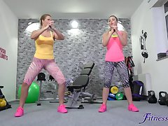 Home gym in she best place for Selvaggia just about be hung up on in her lover