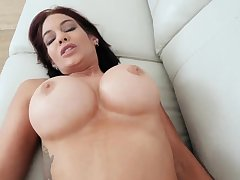 French brunette milf anal Ryder Skye anent Stepmother Sex