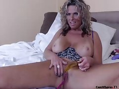 Zeana34g Milf Big Tits, Glass Toy In Ass, Sucks Black Dildo