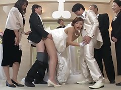 Best Man Takes Bride At hand Japanese Wedding 1