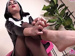 Sexy Carefulness And Hot Nun Barefoot And Regarding Stockings Feet Take effect