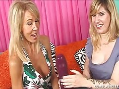 Homemade video be required of two pretty good babes paroxysmal off a lucky gay blade