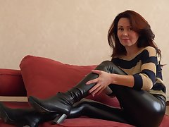Glamorous Russian MILF exudes sexual magnetism with an increment of loves masturbating