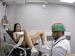 Pussy exam is graveolent buy fitted doggy fuck for horny doctor Nick Moreno
