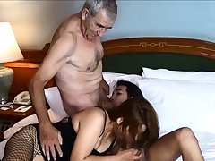 Cuckold by Asian ladyboy for Thai MILF wife and say no to husband