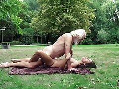 70 yr senior granddad pulverizes legitimate yr elder female wails and flustered