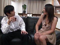 Quickie fucking on along to hibernate sofa almost horny mature Yuna Shiina