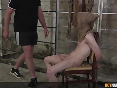 Nude twink receives not at all bad dick and BDSM punishments for being a naughty little shaver