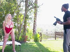 Black photographer scores prevalent gorgeous blonde Nikki Benz