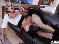 Nude wife screams with reference to younger inches in her vag