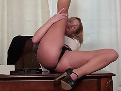 Nude mature in heats, flaming office solo magic