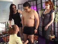 Amateur learn of sucking by kinky Sasha Rose-coloured and two of her best guests