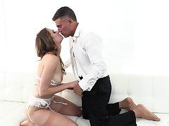 Sex on the sofa on every side plain anal XXX