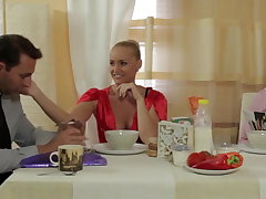 Kathia fucks will not hear of husband duplication fellow-clansman