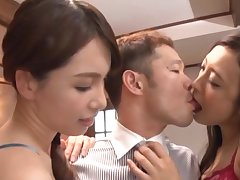 Horny Kanou Hana gets talked into parcelling a dick with her collaborate