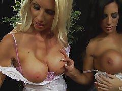 Fake boobs blondie Michelle enjoys getting fucked balls deep