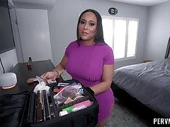 Pervy stepmom Carmela Clutch gets busy with a well-hung boy