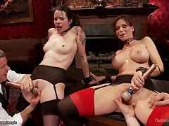 Old Vs Young At Bdsm Orgy Party