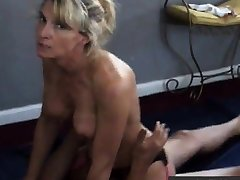 Explicit talks dirty while cuckold husband films her nearby bull
