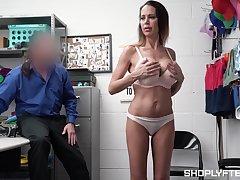 Pristine shoplifter nude porn with a shove around MILF