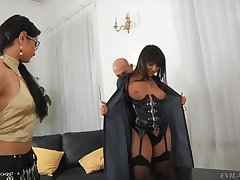 Lovely Monika B gets talked come by sharing some cocks with a friend