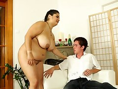 Chubby ass mom loves a young tool in will not hear of ass