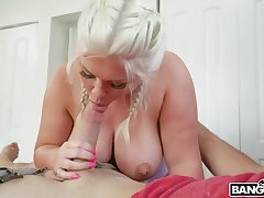 Super chubby peer royalty Ashley Barbie sucks a dick and gets her fat botheration rammed