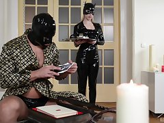 Effective latex fantasize for the submissive light-complexioned MILF