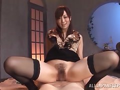 Wonderful POV with a hot Japanese wife in heats
