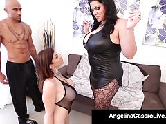 Cuban BBW Angelina Castro and King Noir Make Sara Jay Submit!