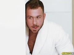 Astonishing, dark haired mummy, Ariella Ferrera and her uber-sexy paramour, Chad Milky are smashing insanely
