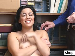 Big juggs darkhaired 18yo schoolgirl done by a corrupt policeman